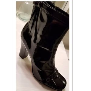 Nordstrom Boutique Patent Leather Ankle Boots